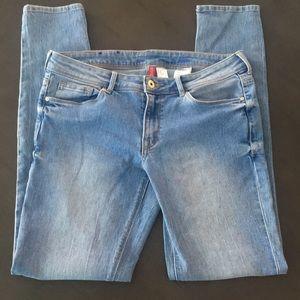 Women's H&M Divided sz 10 skinny jeans light blue